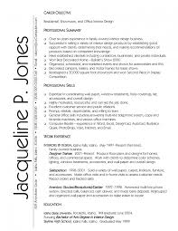 Resume Example Objectives Career by Interior Design Resume Sample Job Samples Examples Objectives