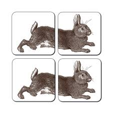 classic rabbit brown rabbit coasters by thornback peel