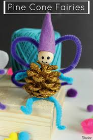 fairy craft for kids with sparkle pine cones darice