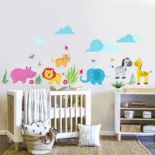 stickers animaux chambre b chambre bébé jungle images avec chambre b amp b londres bleu but