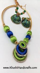 turquoise coloured necklace images Buy beautiful silk thread jewellery for women online in india jpg