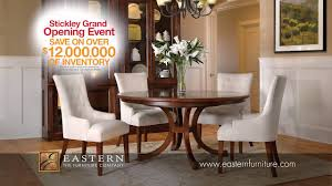 stickley dining room table stickley grand opening event at eastern furniture commercial youtube