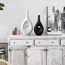 homestia ceramic vases white black vases s m nordic styletable