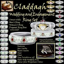 claddagh wedding ring sets second marketplace cuda claddagh wedding and engagement