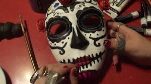 Day Of The Dead Mask Halloween Special Asmr Relaxation Making A Day Of The Dead Mask