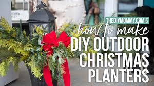 how to make outdoor christmas planters cheap u0026 easy arrangements