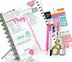 using a happy planner daily sheet for a monthly faith overview