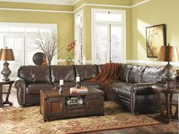 L Shape Wooden Sofa Designs Winsome Worn Leather Couches With Cream Leather And Three Backrest