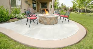 Backyard Concrete Patio by Paver And Concrete Patios U2013 Perfect Earth Landscaping