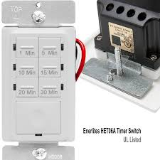 panasonic fan delay timer switch enerlites het06a 1 5 10 15 20 30 minutes preset in wall countdown
