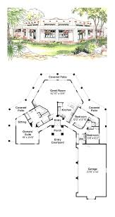 adobe southwestern style house plan 3 beds baths 2431 sq ft simple