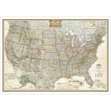 Old United States Map by United States Executive Wall Map National Geographic Store