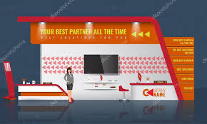 creative exhibition stand design trade booth template corporate