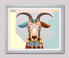Goat Home Decor Goat Print Goat Goat Decor Goat Pop Goat Poster Goat