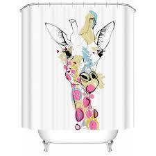 white horse fabric shower curtain 3d bathroom curtain waterproof