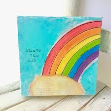 Rainbow Home Decor by Rainbow Painting Rainbow Art Colorful Home Decor Colorful Wall