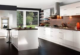 Wonderful Modern White Wood Kitchen Cabinets  Contemporary - Contemporary white kitchen cabinets