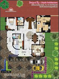 5 bedroom luxurious bungalow floor plan and 3d view kerala home
