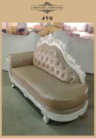 Red Chaise Lounge Sofa by Chinese Furniture Manufacturers Antique Sofa Carved Wood Frame