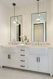 Mirrors Bathroom by Bathroom Shiplap Wall Behind Mirrors Bathroom With Shiplap Wall