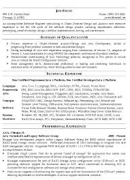 Resume Examples Summary by Sample Senior Software Engineer Resume Highlights Of Technical