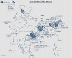 North India Map by India Conflict Map