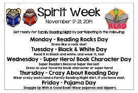 family reading night spirit week u2013 iroquois west elementary schools