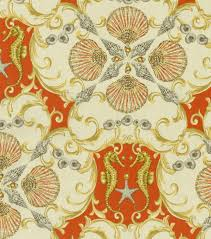 home decor upholstery fabric waverly jewel of the sea coral at