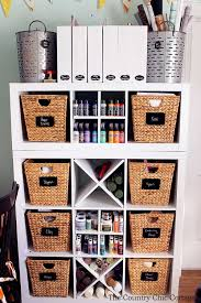 Storage Ideas For Craft Room - corral the chaos craft storage ideas the heathered nest