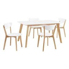 White Furniture Company Dining Room Set Walker Edison Furniture Company Retro Modern 5 Piece White And