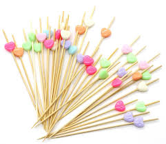 amazon com putwo handmade cocktail picks 100 counts candy heart