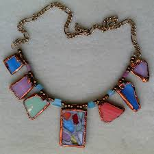 glass necklace images Stained glass necklace no soldering jpg
