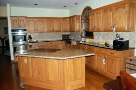 oak cabinets with granite countertops with oak cabinet oak cabinets granite oak kitchen