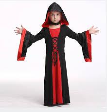 Red Witch Halloween Costume Children Red Black Halloween Halloween Witch Wizard Cosplay