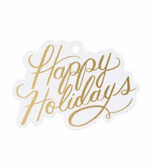 happy holidays die cut gift tags by rifle paper co made in usa