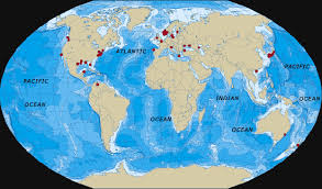 map world oceans where are dead zones in the world s oceans