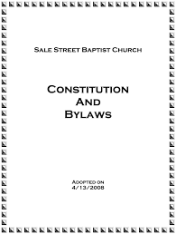 constitution u0026 bylaws u2014 sale street baptist church