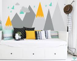 Headboard Wall Decor by Nursery Mountain Wall Art Headboard Wall Decal For Kids Wall