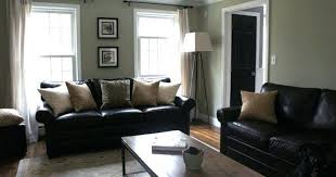 Black Leather Sofa Interior Design Living Room Decorating Ideas With Black Leather Gopelling Net