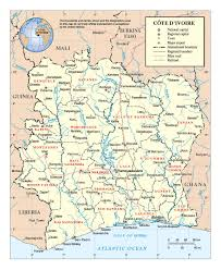 africa map ivory coast detailed political and administrative map of ivory coast with