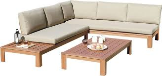 wooden corner sofa set lynton garden delancy 5 seater corner sofa set with cushions