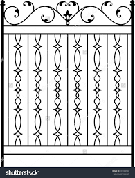 wrought iron gate door fence window grill railing design stock