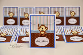 monkey invitations baby shower jingvitations monkey