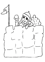 snow fort winter coloring pages winter coloring pages of