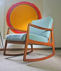 West Elm Ryder Rocking Chair Vintage Danish Modern Ole Wanscher Rocking Chair Rocker Mid