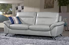 ensemble canape cuir ensemble canapé cuir design 3 2 coloris gris clair juliano