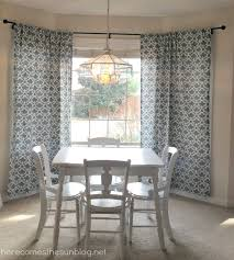 how to hang a bay window curtain pole home the honoroak