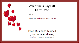 editable u0026 printable valentine u0027s day gift certificates word