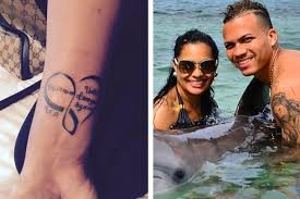 wife of murdered rangers star arnold peralta reveals tattoo in his