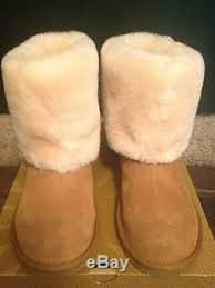 womens ugg boots ellee nib ugg big ellee chestnut suede boots with sheepskin